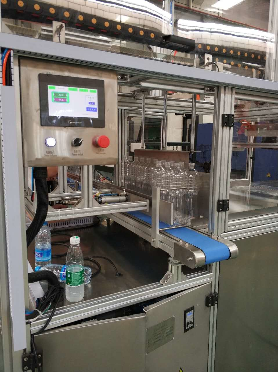 220V PLC Control Bottle Bagging Machine With Laser Probe And Touch Screen