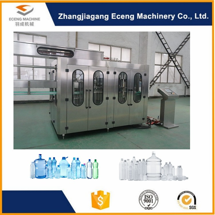 PLC Programmable Control 3 In 1 Filling Machine Plant Line For Ediable Oil Bottle
